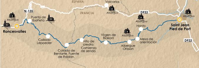 этап 1 (Saint Jean Pied de Port  - Roncesvalles)