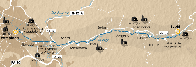 этап 3 (Zubiri  - Pamplona)