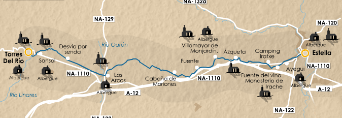 этап 6 (Estella  - Torres del Río)